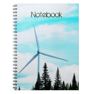 Text Template | Wind Turbine | Natural Park Notebook