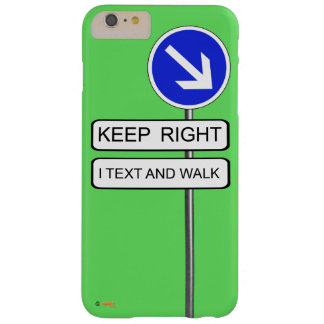 Text Walk Barely There iPhone 6 Plus Case