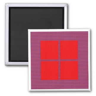 TEXT your SQUARES Template Square Magnet