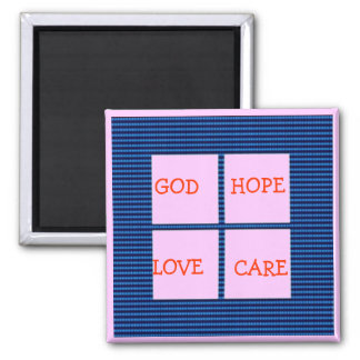 TEXT your SQUARES Template Fridge Magnets