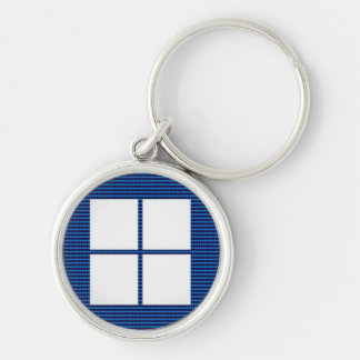 TEXT your SQUARES Template Silver-Colored Round Key Ring