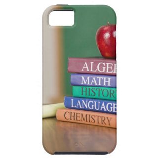 Textbooks and an apple 2 case for the iPhone 5