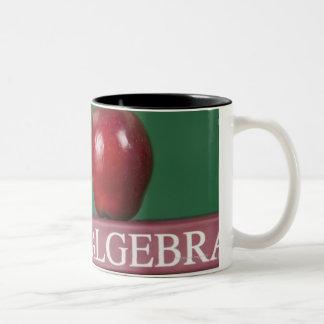 Textbooks and an apple Two-Tone coffee mug