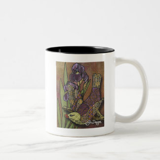 Textile Art Bird Coffee Mug