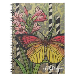 Textile Art Butterfly Notebook