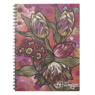 Textile Art Floral Notebook