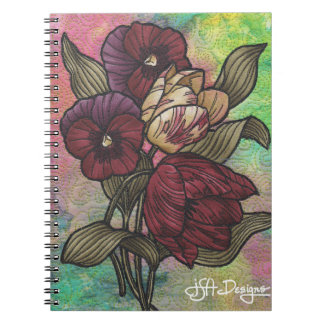 Textile Art Floral Notebook