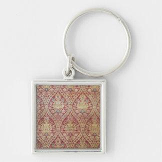 Textile design, 16th/17th century Silver-Colored square key ring
