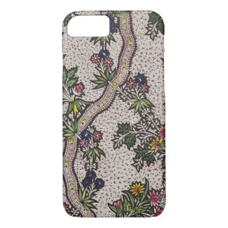 Textile design of plant forms and serpentine ribbo iPhone 8/7 case