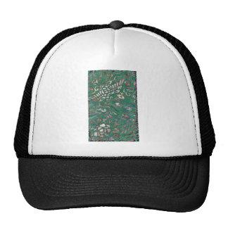 Textile design with bird and flower motif Ukiyo-e. Trucker Hat