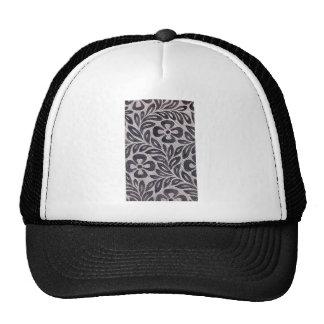 Textile design with flower motif Ukiyo-e. Hats