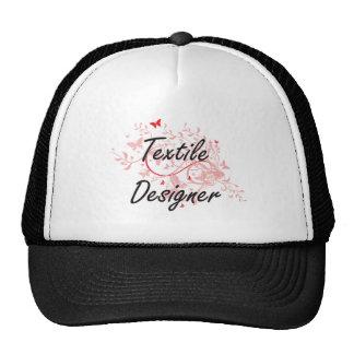 Textile Designer Artistic Job Design with Butterfl Cap