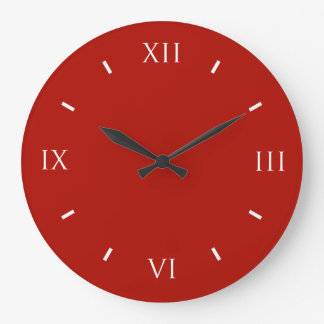 Textile Red High End Colorful Large Clock