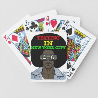 Texting In New York City playing cards