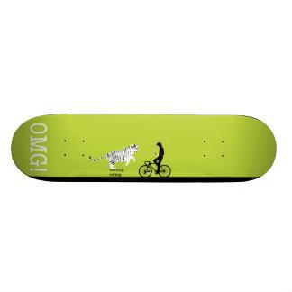 texting. riding. skateboard. 21.6 cm old school skateboard deck