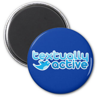 Textually Active on Twitter Texting Trendy 6 Cm Round Magnet