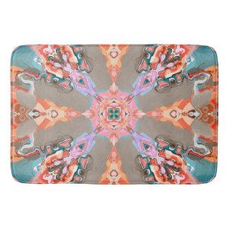 Textural Abstract Kaleidoscope Bath Mat