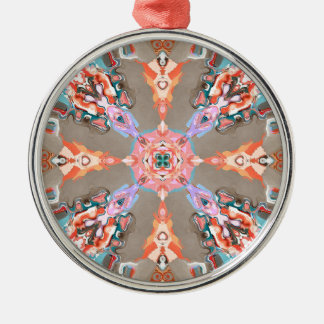 Textural Abstract Kaleidoscope Christmas Ornament