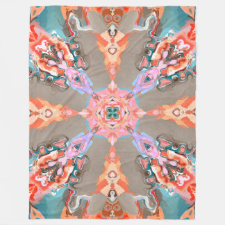 Textural Abstract Kaleidoscope Fleece Blanket