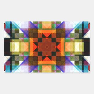 Textural Geometric Pattern Rectangular Sticker