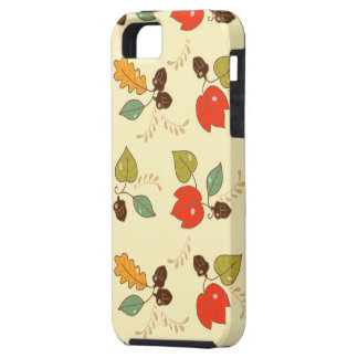 Texture #84 - Colorful Leaf and Nut Pattern | iPhone 5 Cover