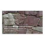 Texture and Pattern Of Natural Stone Wall Close-Up Business Card