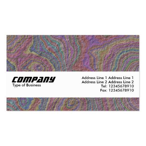 Texture Band - Psychedelic Rock Business Card Templates
