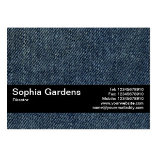 Texture Band V2 - Old Blue Jeans Pack Of Chubby Business Cards