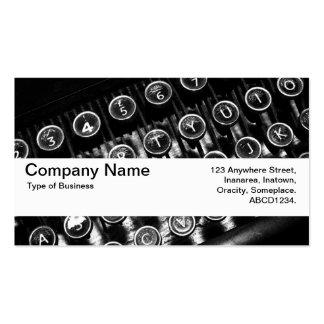 Texture Band V2 - Vintage Typewriter Business Card