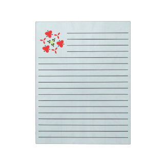 Texture Blue wood pattern Notepad