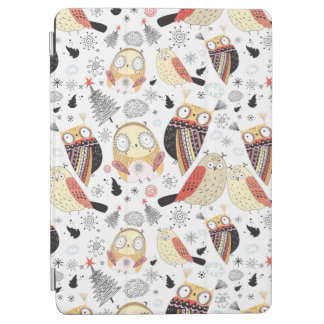 Texture funny owl iPad air cover