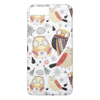 Texture funny owl iPhone 8 plus/7 plus case
