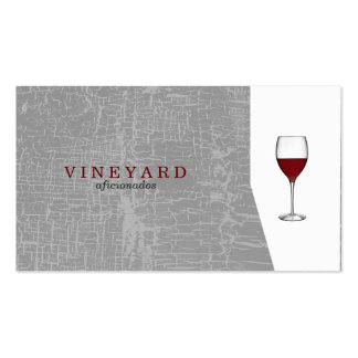 Texture Gray / Wine Glass Pack Of Standard Business Cards