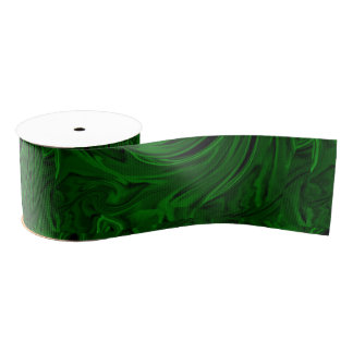 texture green malachite grosgrain ribbon