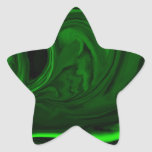 texture green malachite star sticker