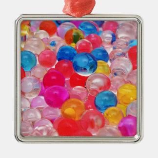 texture jelly balls Silver-Colored square decoration