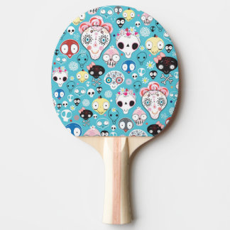 Texture laughing skull ping pong paddle