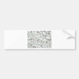 Texture leaf wall bumper sticker