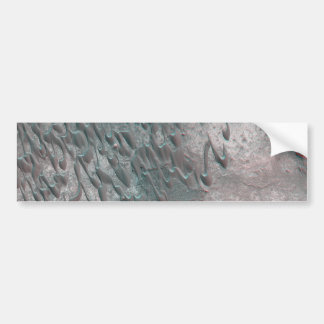 texture of mars dunes bumper sticker