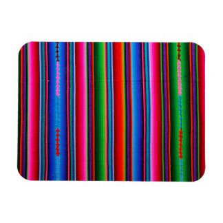 Texture Of Mexican Fabric Magnet