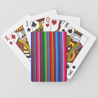 Texture Of Mexican Fabric Playing Cards