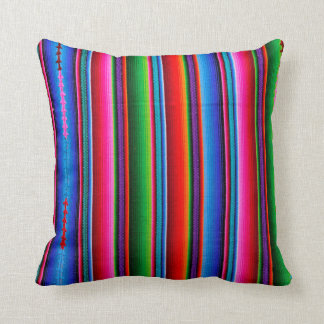 Texture Of Mexican Fabric Throw Pillow