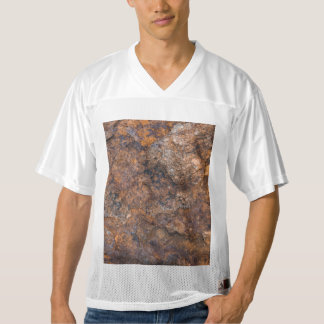 texture of rusty stone men's football jersey