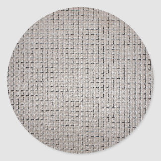 Texture of the grey fabric of the thick filaments classic round sticker