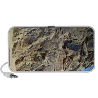 Texture of the rock mountain with blue sky mini speakers