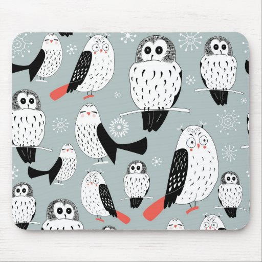 Texture Of White Owls Mouse Pad