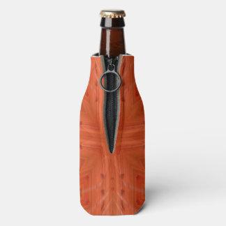 Texture orange wood pattern bottle cooler