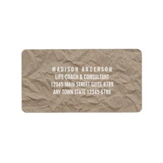 Texture Paper | Minimalist Modern Rustic Design Address Label