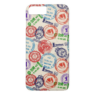 Texture with real stamps. iPhone 7 plus case