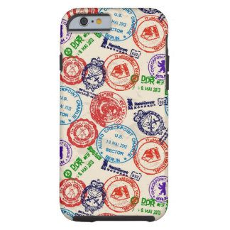 Texture with real stamps. tough iPhone 6 case